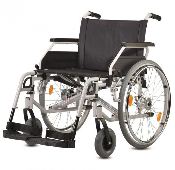 Bischoff Faltrollstuhl S-Eco 300 XL mit Bremse für Begleitperson