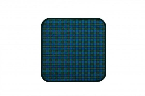 Suprima Sitzauflage - karo/blau - grün